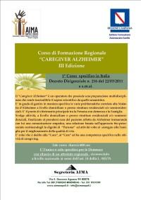 Corso di Formazione Regionale Caregiver Alzheimer