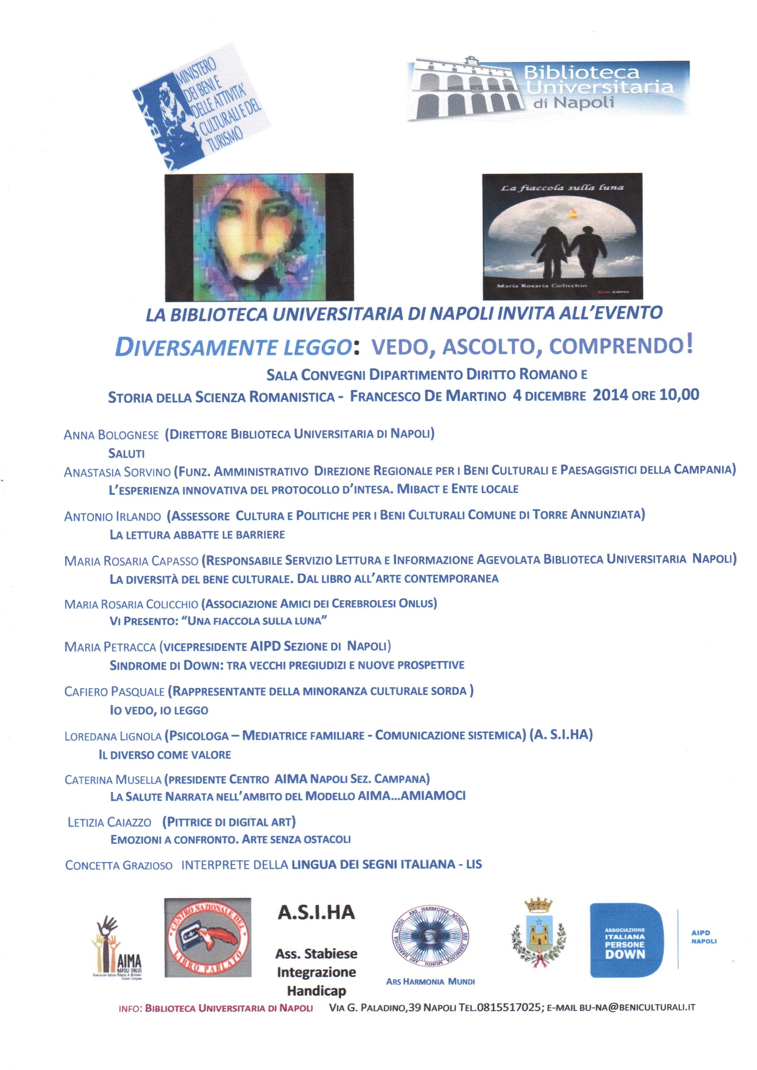 Convegno 4 Dicembre, ore 10, Biblioteca Universitaria di Napoli
