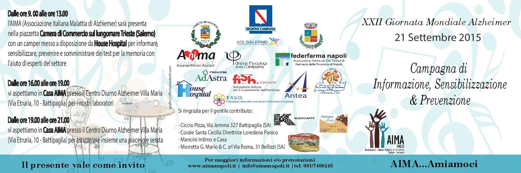 Giornata Mondiale Alzheimer 2015 Salerno