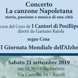 """XXVI Giornata Mondiale Alzheimer – Concerto """"La Canzone Napoletana"""""""